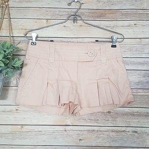 Bebe Pleated Linen Shorts